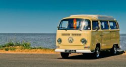 VW Bus on road