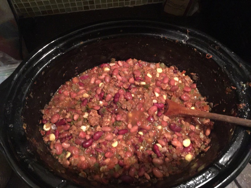 Vegan Chili on a Cold Winter Day