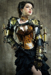 Steampunk woman 2